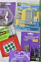 Tray of Hardware, Door Stoppers, etc.