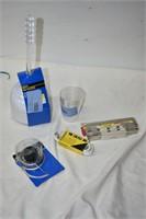 Toilet Brush, Glass, Extension Chord, Key