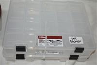 (2) Storage Containers (one broken), Floor