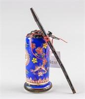 Chinese Porcelain Water Pipe Shen De Tang MK 1950