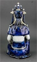 Chinese Yuan/Ming Blue and White Porcelain Guanyin