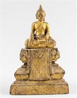 18/19th Century Southeast Asia Gilt Wood Buddha