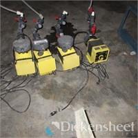 (4) LMI Electromagnetic Dosing Pumps