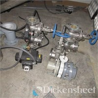 Stainless Steel Valves Including Pipe