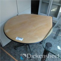 Tear Drop Shaped Table on Casters