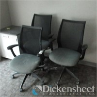 (3) Five Star Mesh High Back Office Arm Chairs,