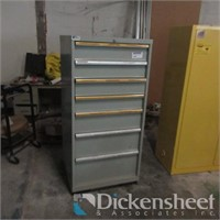 Lista gray seven drawer metal cabinet