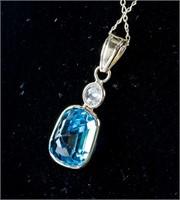 4.5ct Zircon & 0.17ct Diamond Pendant CRV $1600