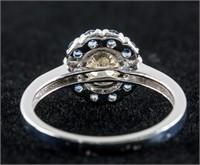 0.48ct Diamond & 0.50ct Sapphire Ring CRV $2400