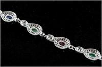 Emerald, Ruby and Sapphire Bracelet RV $400