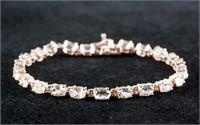 10ct Morganite Rose Gold Plated Bracelet CRV $1200