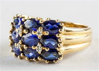 Sterling Silver Blue Sapphire Ring Size 8