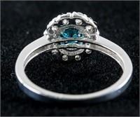 0.52ct Blue w/0.40ct Diamond Ring CRV $5100