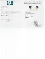 1.25ct Black Diamond Earrings CRV $2100