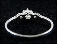 0.25ct Diamond w/0.05ct Diamond Ring CRV $1500