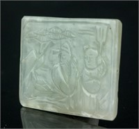 Chinese Green Jade Carved Pendants 2 Assorted