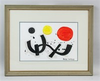 American Mixed Media Signed Adolph Gottlieb