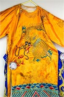 Chinese Imperial Style Yellow Dragon Robe