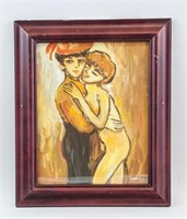 Dutch-French Fauvist Oil Paper Signed Van Dongen