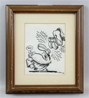 American Pop Art Ink on Paper Signed R. Crumb
