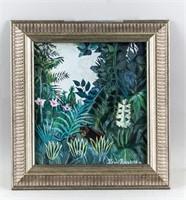 Post-Impressionist Gouache Signed Henri Rousseau