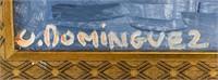 Spanish Surrealist OOC Signed O. Dominguez