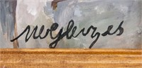 French Avant-Garde Gouache Paper Signed A. Gleizes