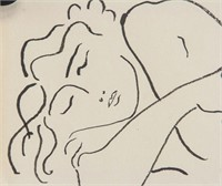 French Fauvist Ink on Paper Signed H. Matisse
