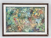 French Surrealist Mixed Media Signed Marc Chagall