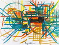 French Lyrical Abstract OOC Signed Georges Mathieu
