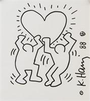 American Pop Art School Marker Signed Haring