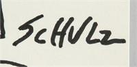 American Pop Art Ink on Paper Signed Schulz