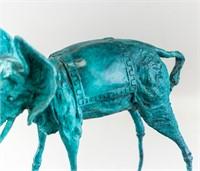 Salvador Dali Spanish Surrealist Bronze Sculpture