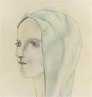 French-Japanese Post-Impressionist Signed Foujita