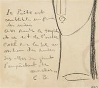 Italian Fauvist Graphite Signed Signed Modigliani