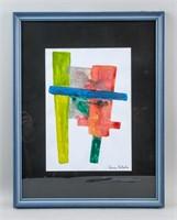 Brazilian-Japanese Abstract Acrylic Tomie Ohtake