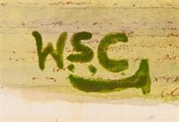 British Impressionist Watercolor Signed WSC