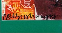 American Abstract Mixed Media Signed Rauschenberg