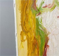 American Abstract Acrylic/Canvas Signed de Kooning
