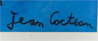 French Dadaist WC on Paper Signed Jean Cocteau