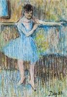 French Impressionist Mixed Media Signed Degas