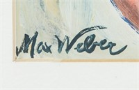 American Fauvist Acrylic Signed Max Weber