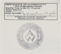 American Pop Art Lithograph Signed Andy Warhol
