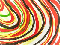 American Abstract Expressionist OOC Signed LeWitt