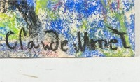French Impressionist Pastel Signed Claude Monet