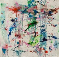American Abstract Oil on Canvas Signed Sam Francis