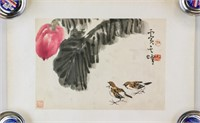 Sun Qifeng b.1920 Chinese Watercolor Paper Roll