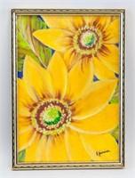 Brazilian Modern Oil on Canvas Signed Djani
