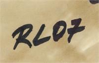 US Pop Art Mixed Media Signed RL 07