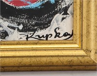 Czech Abstract Oil on Canvas Signed Kupka